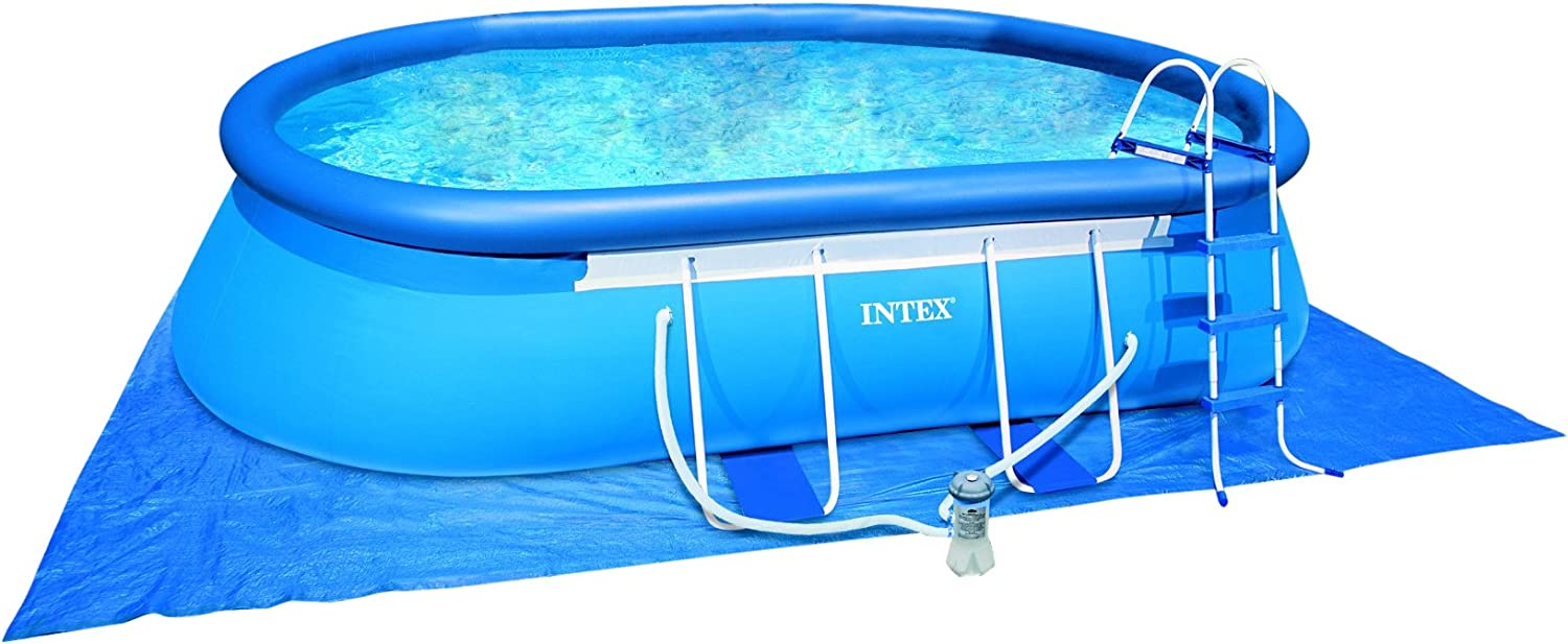 Piscina Intex Oval Frame 549 x 305 x 107 cm Con Depuradora: Amazon ...