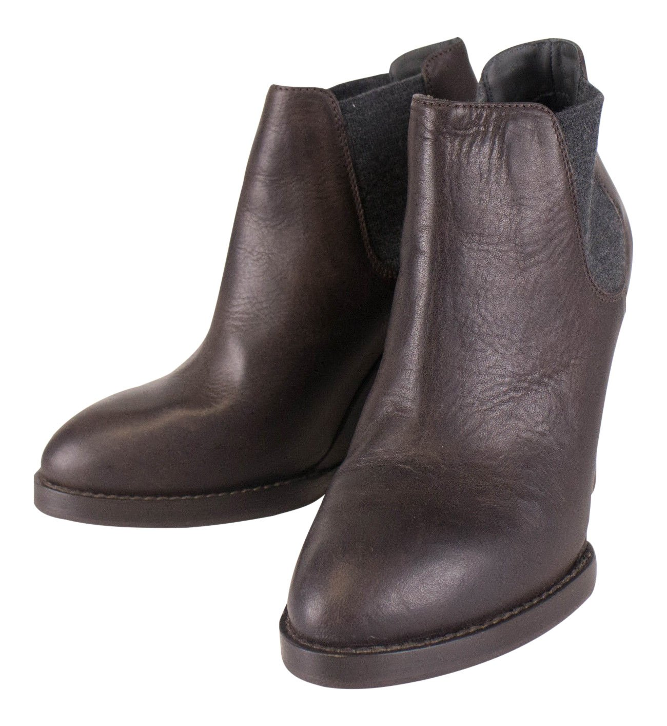 Brunello Cucinelliブラウンレザーブーツサイズ36.5 / 6.5   B01NASCXCT