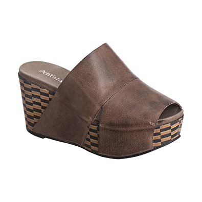 Women's 869 Leather Wide Banded Mule