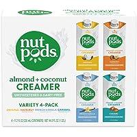nutpods Variety Pack, (4-Pack), Original, French Vanilla, Hazelnut and Caramel, Unsweetened Dairy-Free Creamer, Made…