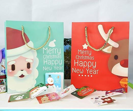 DiiDa - Bolsas de regalo de Navidad con tarjetas de Navidad ...