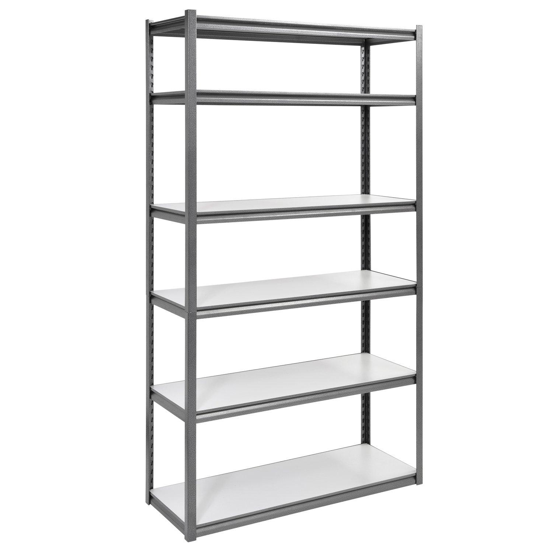 Muscle Rack UR4818HPSVL6 Boltless Storage Rack with 6 Shelves, 3000 lb Capacity, 48'' Width x 84'' Height x 18'' Depth, Silvervein