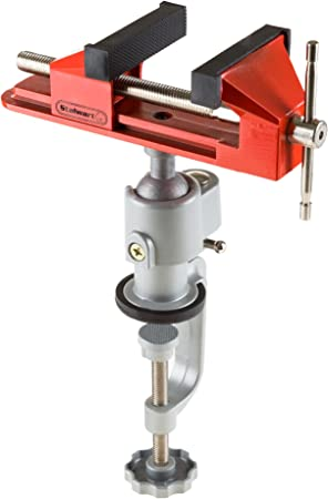 Rotates 360 degrees Swivel Bench Clamp with Nylon insert Tabletop Clamp Tilts