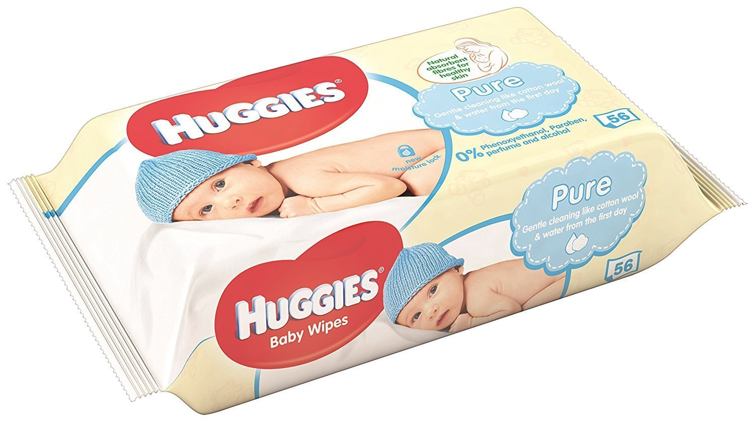 (Packung mit 10 Stück) Huggies Baby Pure Wipes 376 g baby wipes by huggies