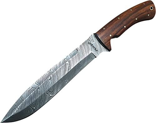 Perkin Knives - Custom Handmade Damascus Hunting Knife - Beautiful Bowie Knife