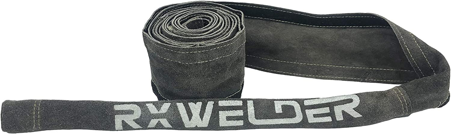 RX WELD Black TIG Welding Torch Cable Cover Flame-Resistant Leather Kevlar Stitched,Yellow MIG//Plasma Cable Sleeves Tig Cover,137