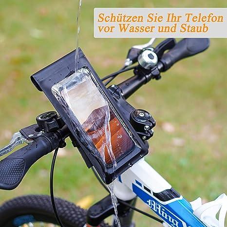 Lifelf Wasserdichte Fahrrad Handyhalterung Abziehbar Smartphone Halter Anti Shake Mit 360 Drehung Für Iphone Samsung Galaxy Huawei Bis Zu 6 0 Zoll Universal Handyhalter Für Fahrrad Scooter Motorrad Elektronik