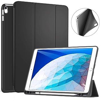 Ztotop Funda para iPad Air 3 10,5 2019 & iPad Pro 10,5 2017 con Porta-lápiz, Ultra Delgado y Suave TPU Cubierta Triple del Sistema, función ...