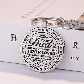 Amazon Teravex Dad Wedding Gifts Keychain Stainless Steel