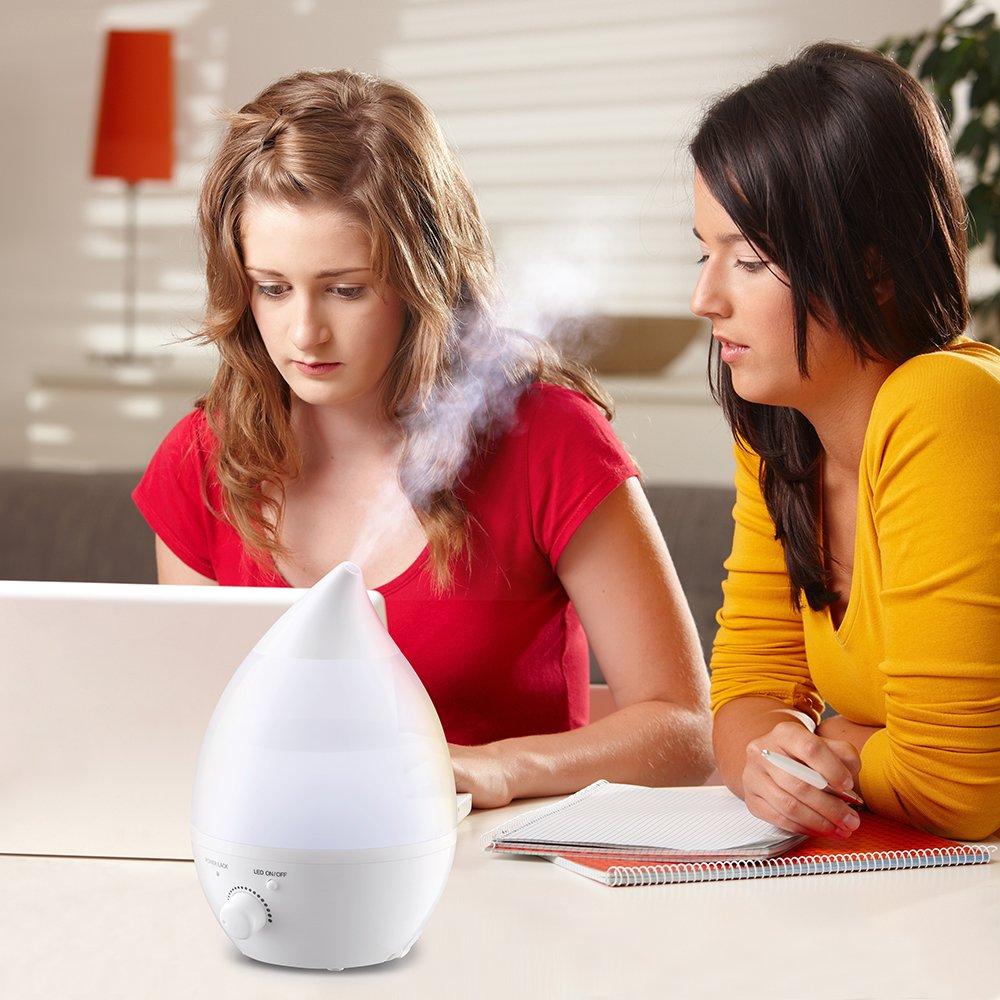 Humidificador Ultrasónico Ionizador/ Difusor de Aroma de Forma Lágrima por solo 29,99€
