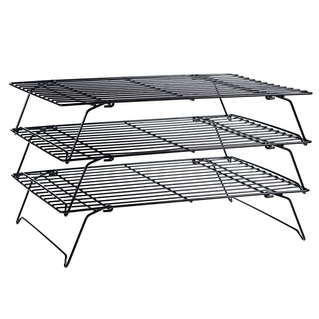3 Tier Stackable Cake Food Cooling Rack Baking Kitchen Cupcake Stacks