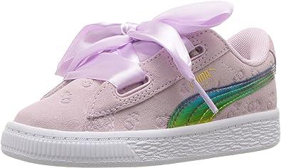PUMA Unisex Kids Minions Suede Heart Fluffy Sneaker
