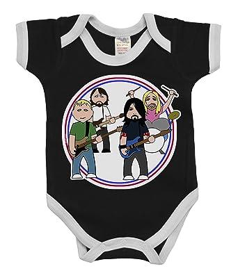c5e3c1b79 VIPWees Babygrow The Flu Fighters Music Boys   Girls Baby Bodysuit ...