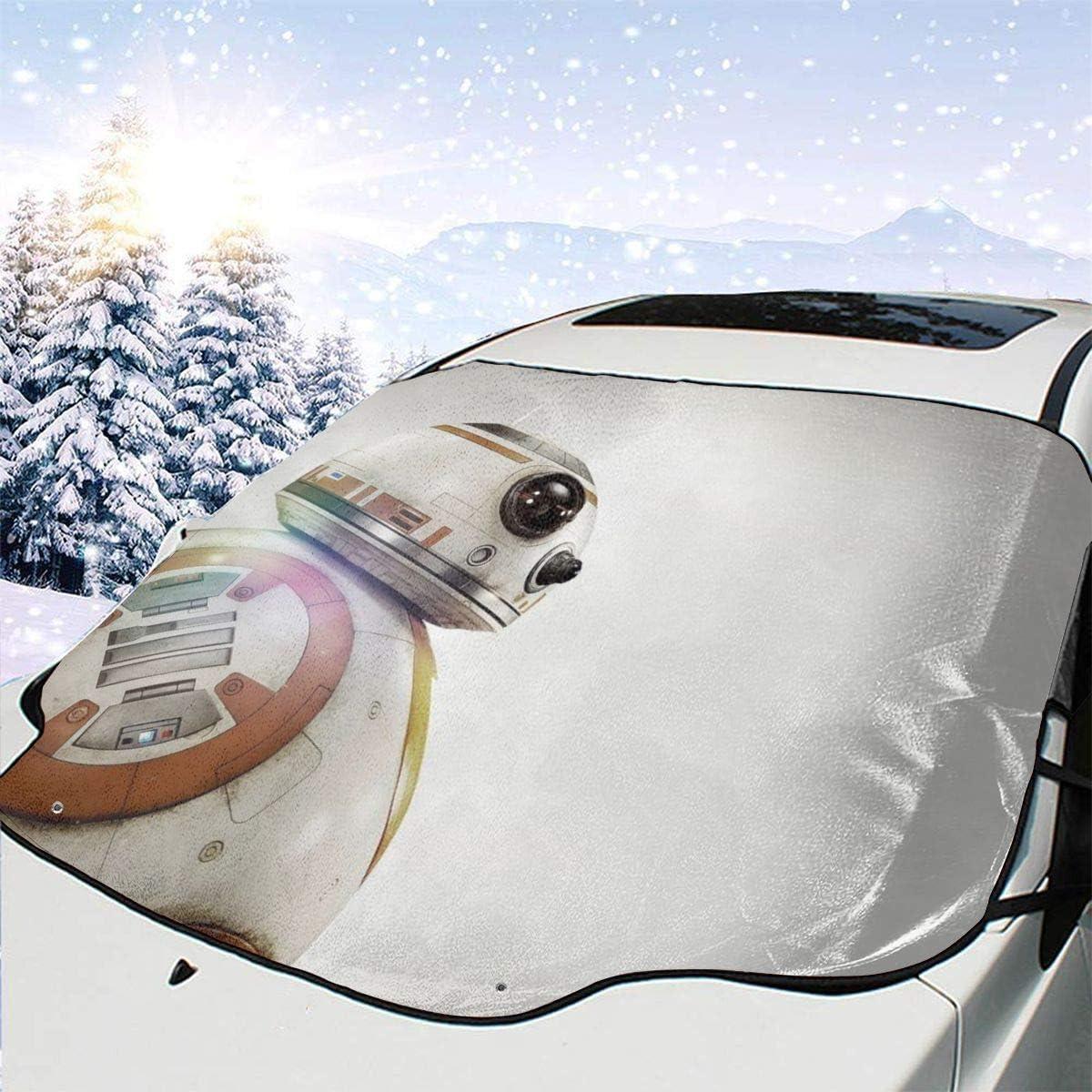 Protezione Solare Gelo Neve AEMAPE Star-War Robot Multifunzione Parabrezza per Auto Parabrezza Parasole per Auto Parabrezza Impermeabile Copertura Invernale per Ghiaccio 147 x 118 cm