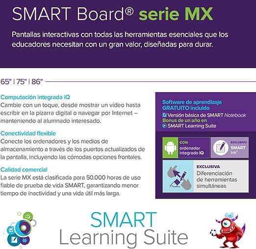 Pantalla Interactiva SMART Board MX 86