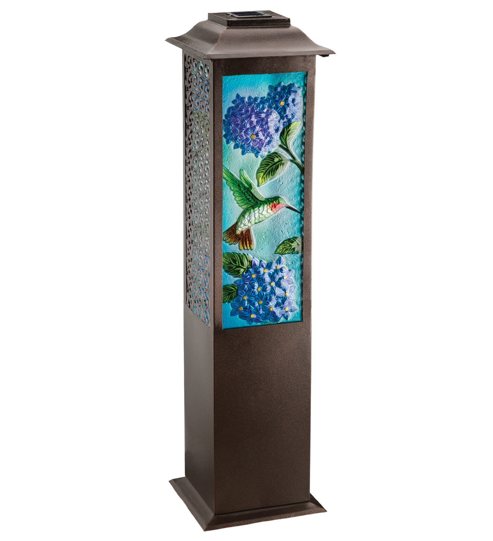 Regal Arts SS-Rag-11472 42 inch Solar Garden Hummingbird Lantern