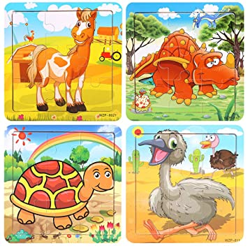 Educational Book Puzzle for Toddlers Kids Children Wild Animals
