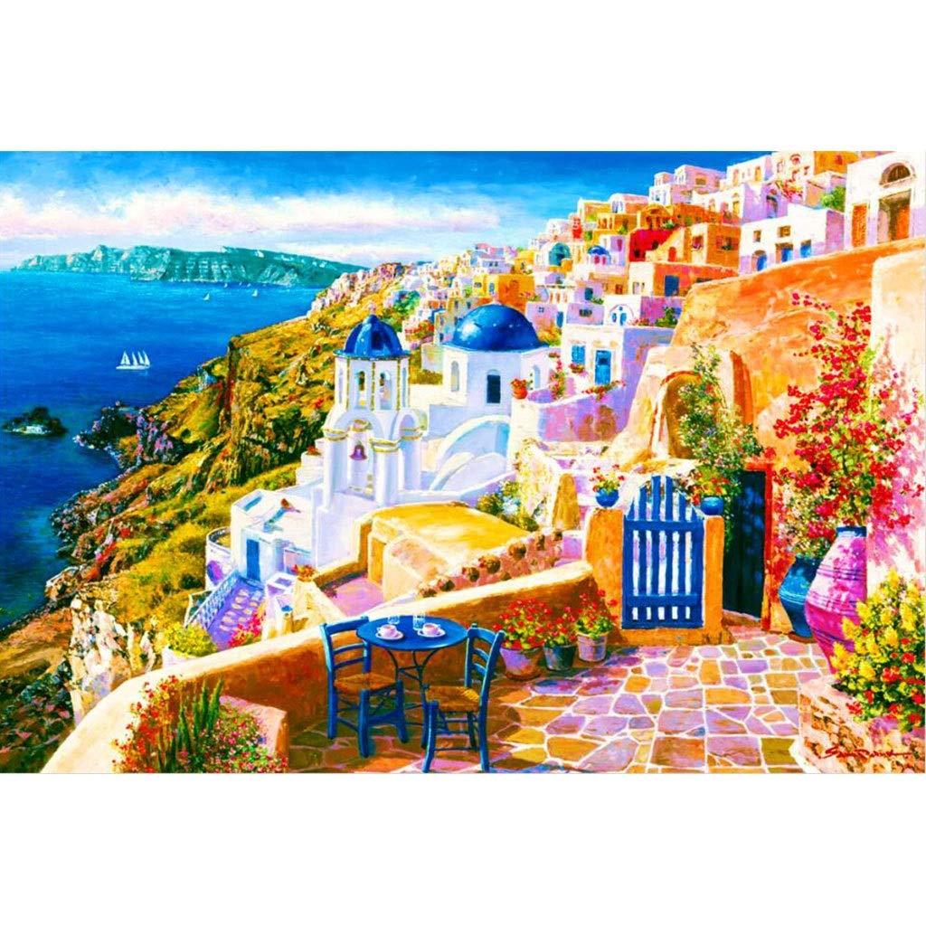 Puzzle House- Santorini, Grecia, Mar Egeo, Rompecabezas de Madera ...
