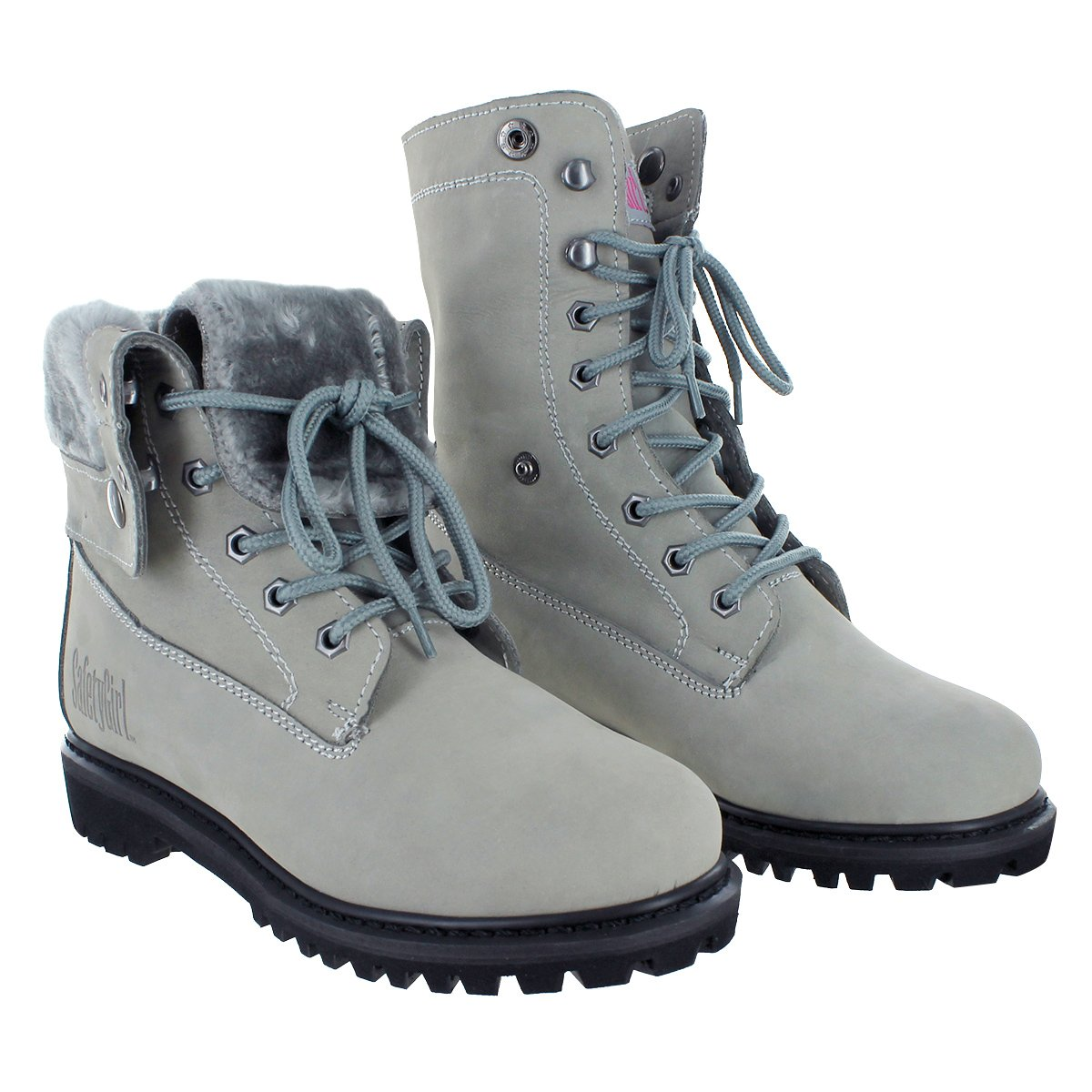 Safety Girl GS008-GRY-ST-10M Madison Fold-Down Work Boot - Gray Steel Toe 10M, English, Capacity, Volume, Leather, 10M, Gray () by Safety Girl (Image #1)