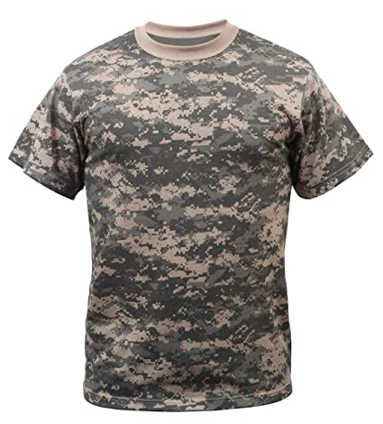 ba1d8cbbce6b Amazon.com: Rothco T-Shirt/Woodland Digital Camo: Sports & Outdoors