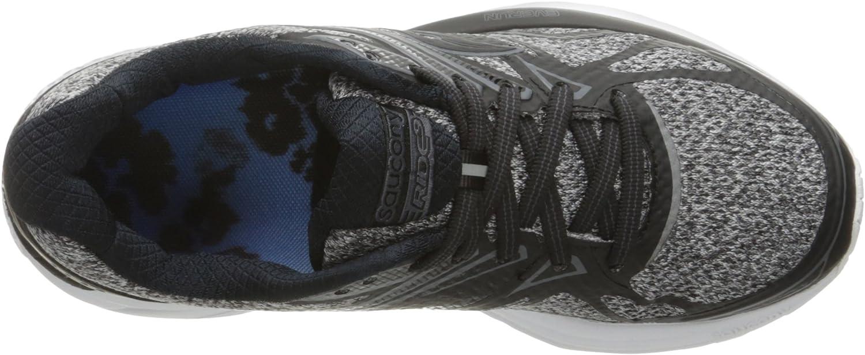 Saucony Women's Ride 9 LR Running Shoe Grey/Black