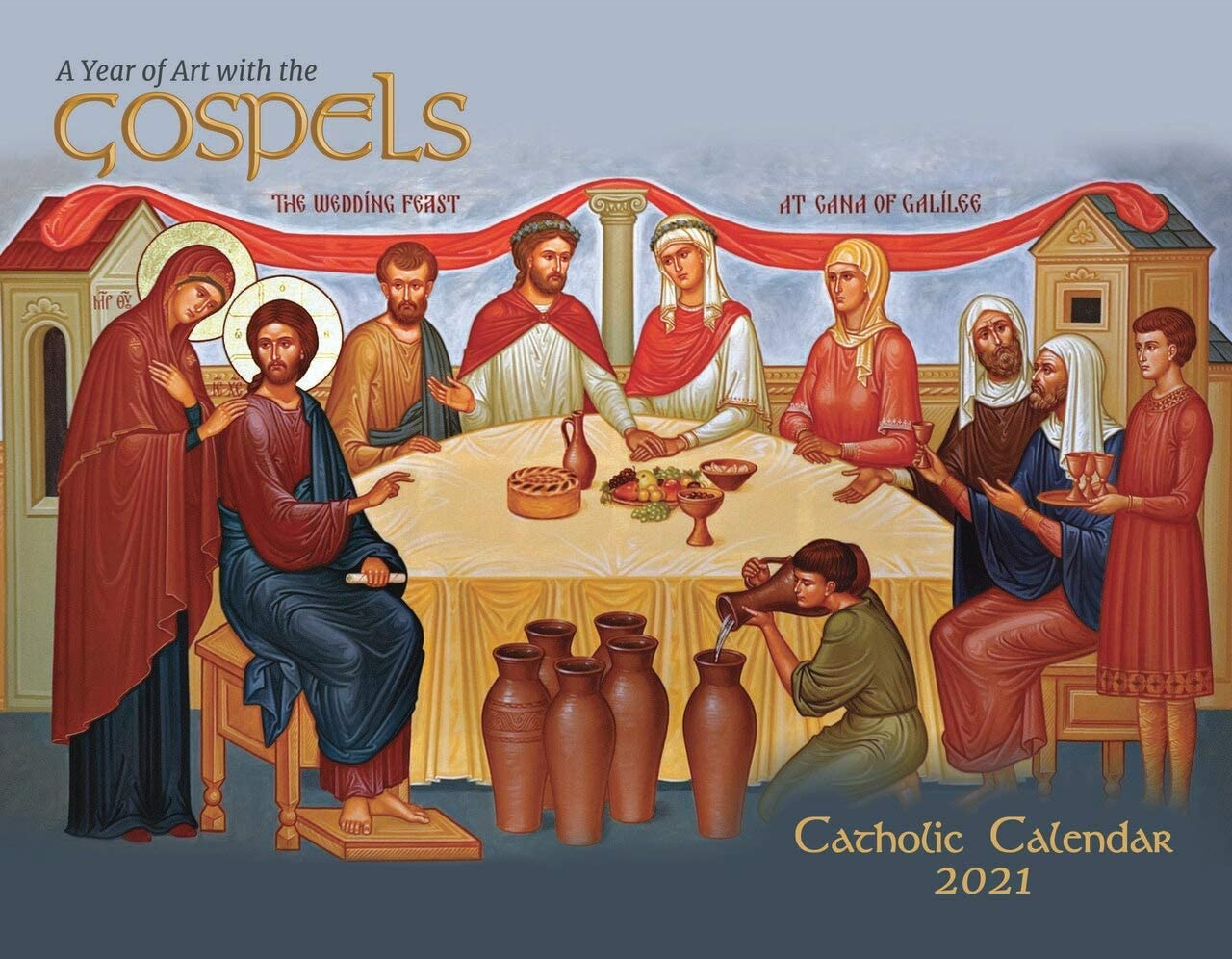 Catholic Religious Liturgical Wall Calendar 2021: A Year of Art with The Gospels Mount Tabor Studios Icons Monthly 11