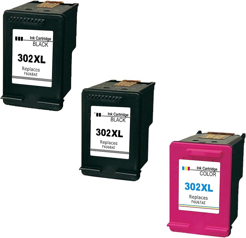 Daryo Cartridge HP 302XL Pack de 3 cartuchos de tinta para HP DeskJet 1110/2130/3630, tricolor y negro: Amazon.es: Electrónica