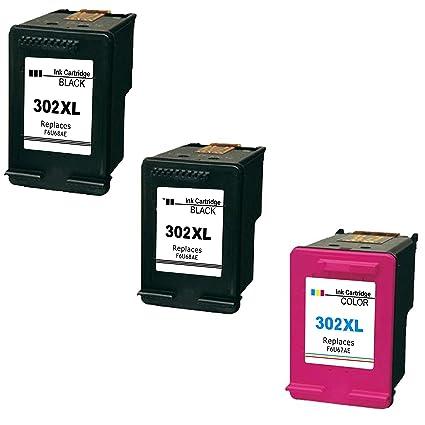2 x negro y 1 x Tricolor remanufacturados HP 302 X L ...