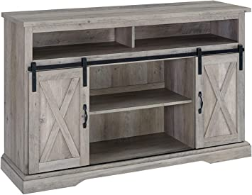 Farmhouse Storage Cabinet Rustic Barn Door Bookcase Pantry Craft Room Furniture