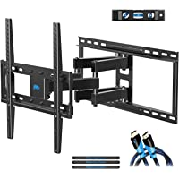 TV Wall Mount Bracket with Full Motion Articulating Arms for most 26-55'' LED, LCD, OLED and Plasma TVs up to VESA 400 x 400mm and 99 lbs. Fits 16'', 18'', 24'' wood studs, MD2380-24, by Mounting Dream