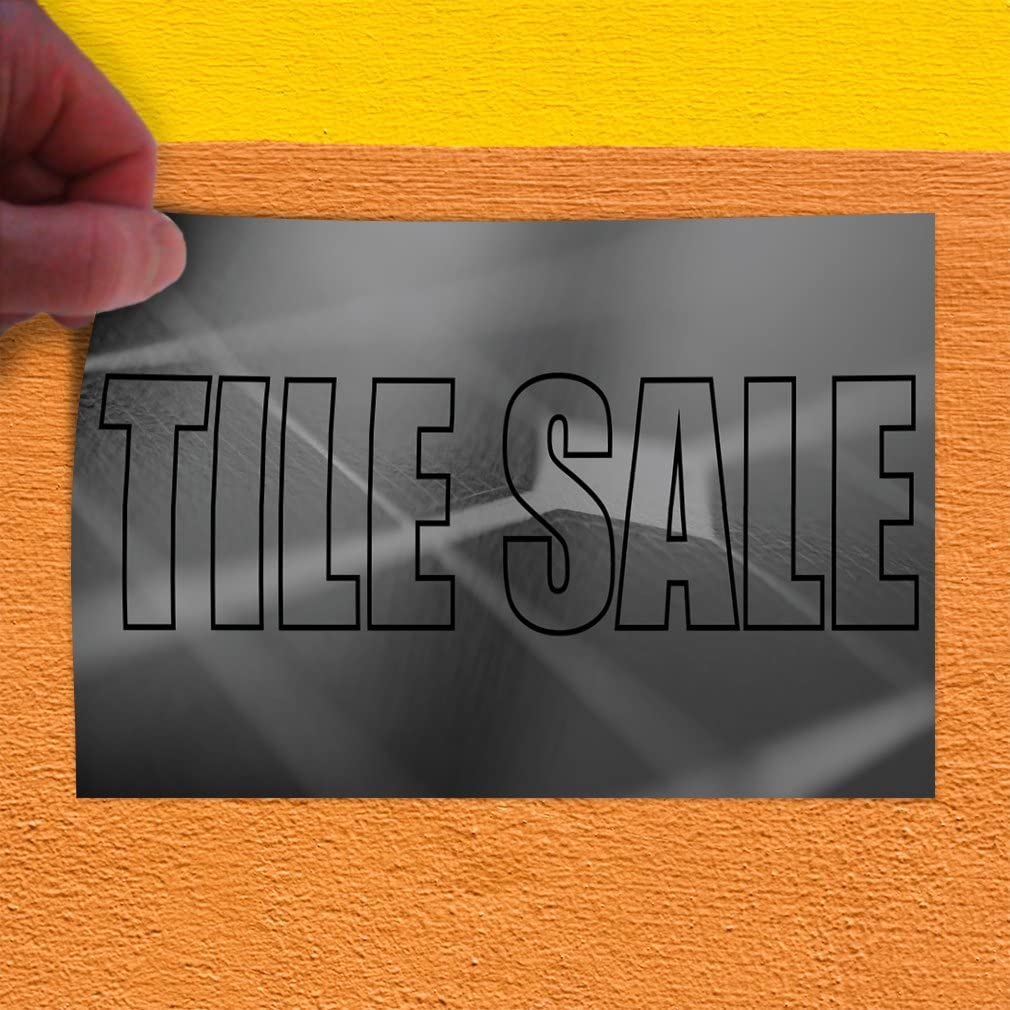 Set of 2 Decal Sticker Multiple Sizes Tile Sale #1 Style B Business Tiles Outdoor Store Sign Grey 52inx34in