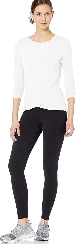 Essentials Women's Studio Long-Sleeve Cross-Front T-Shirt: Clothing