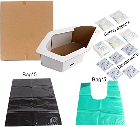 Emergency Toilet Kit Portable Potty Urinal Liner Bags for Adult Children Outdoor