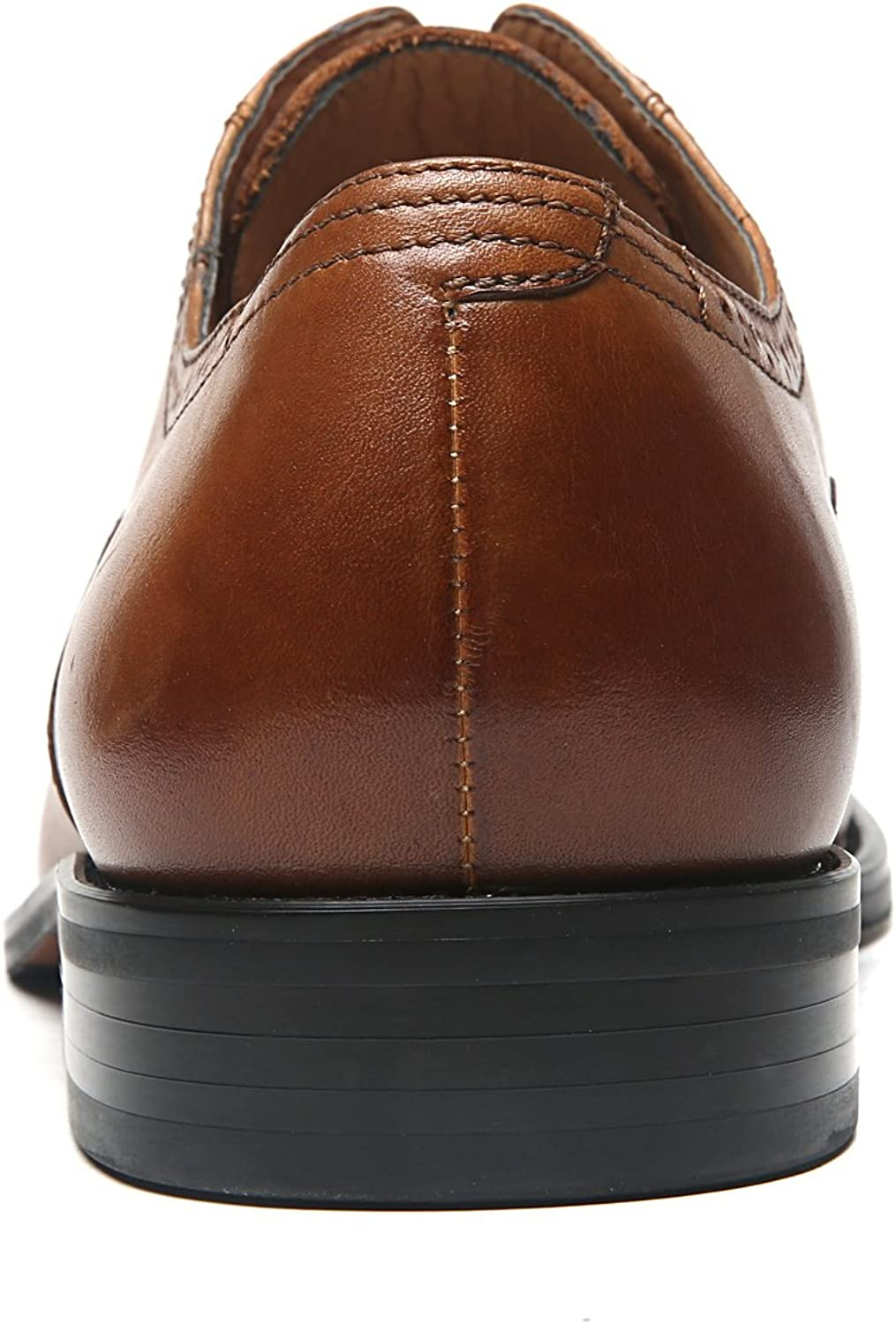 La Milano Mens Leather Cap Toe Lace up Oxford Dress Shoes Classic Modern Business Casual Shoes for Men