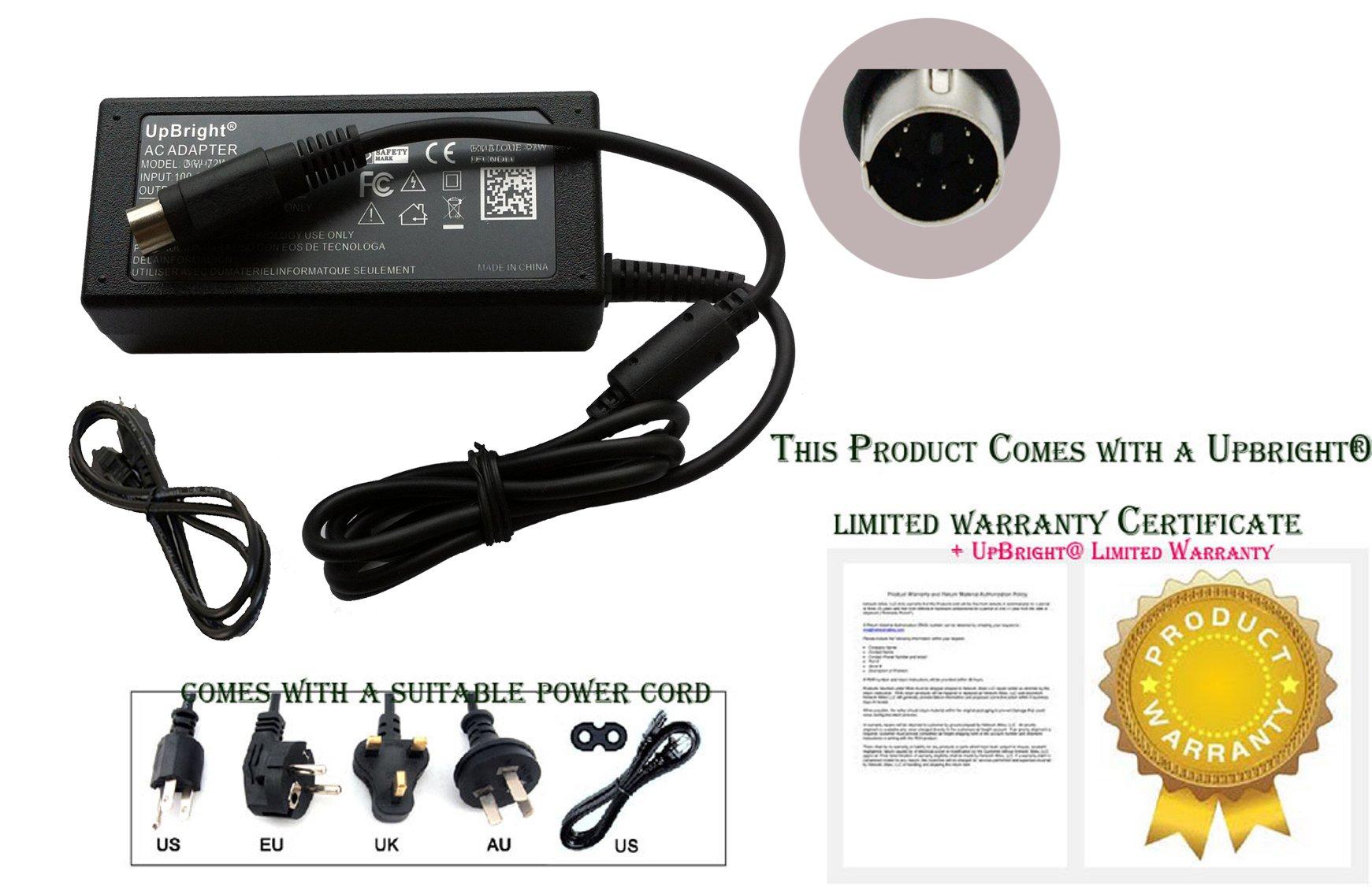 UpBright Mini 6-Pin Metal DIN Connector AC / DC Adapter For APD Iomega DA-30C03 DA-30C01 30941701 DA30C03 DA30C01 Asian Power Devices Hard Disk Drive HDD HD 5V 12V 12.0V 5.0V 1.5A 2A Power Supply PSU