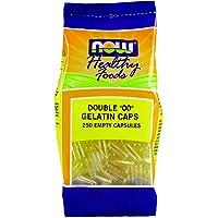 "Now Foods Double""00"" Gelatin Caps, Empty Gelatin Capsules, Approx. 250ct"