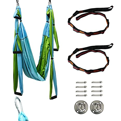 Amazon.com : Yaegoo Aerial Yoga Trapeze Kit Body Hammock ...