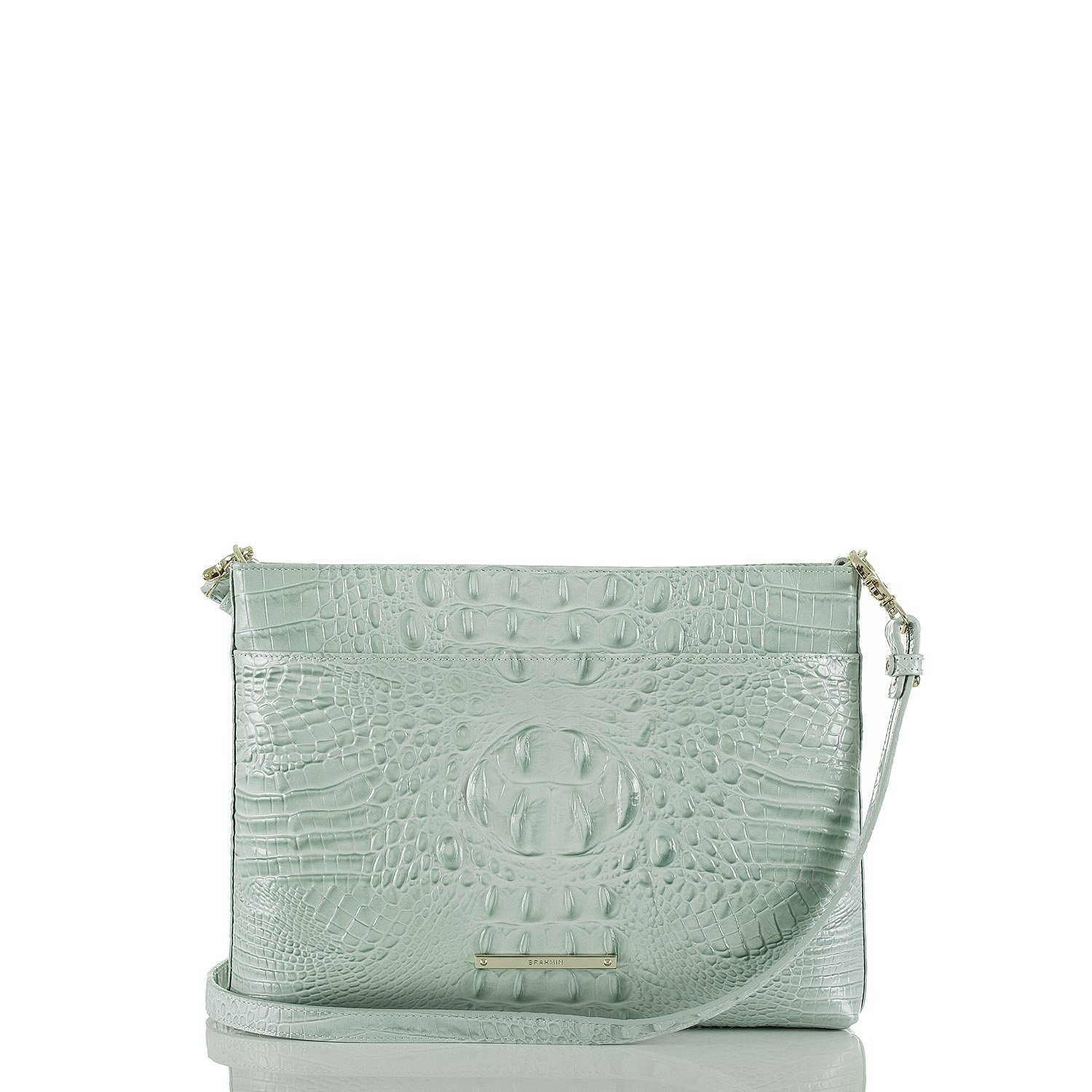 NEW AUTHENTIC BRAHMIN REMY MESSENGER CROSSBODY BAG (Sea Glass Melbourne) by Brahmin