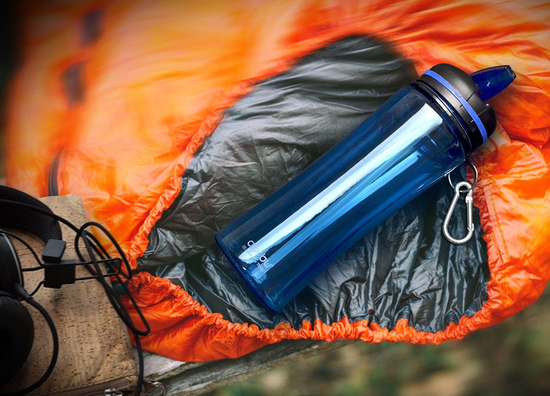 The Asobu TRIUMPH SPORT HYDRATION BOTTLE 20oz Tritan Free Flow spout Water bottle (Clear) by Asobu (Image #5)