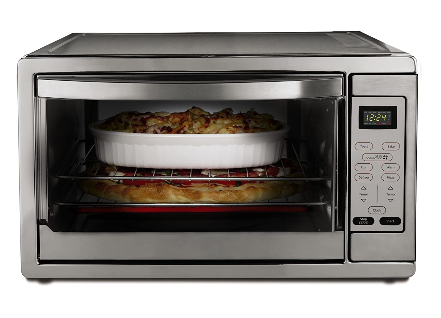 Amazon: 2 X Oster Extra Large Digital Countertop Oven, Stainless Steel,  Tssttvdgxlshp: Kitchen & Dining