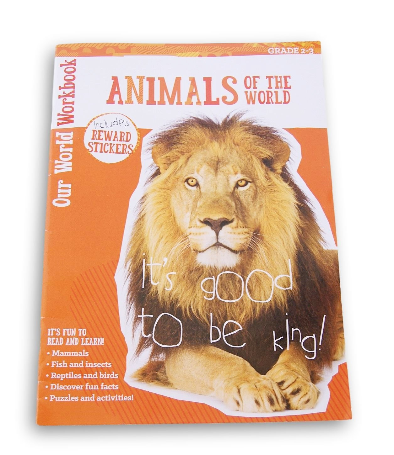''Animals of the World'' Discovery Workbook with Reward Stickers For Grades 2 3