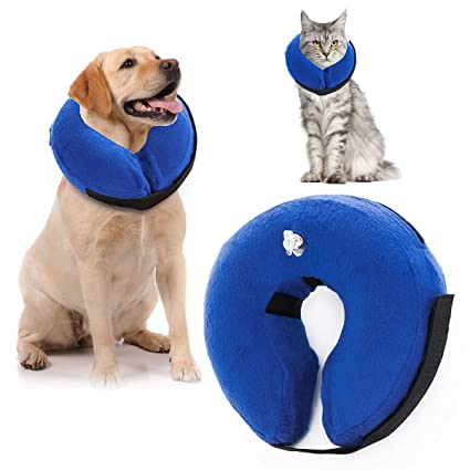Amazoncom Shu Ufanro Inflatable Protective Cone Collar Dogs Cats