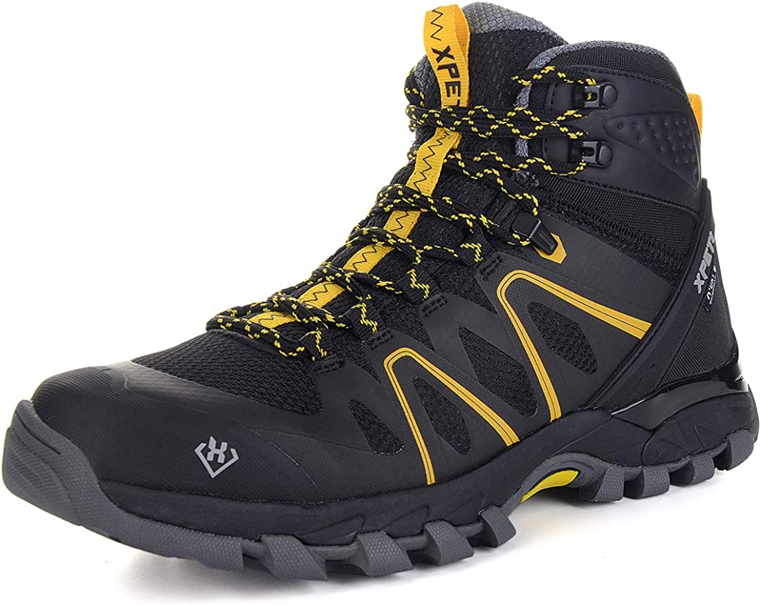 SKENARY Men s Mid Waterproof Hiking Boots, Breathable with High-Traction Grip Hiking