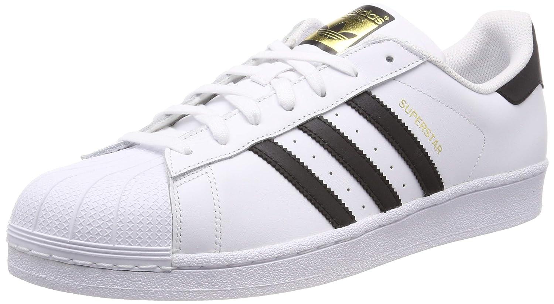 adidas Unisex Erwachsene Superstar Sneaker, Blanc (Ftwwht Cblack), 44 23 EU