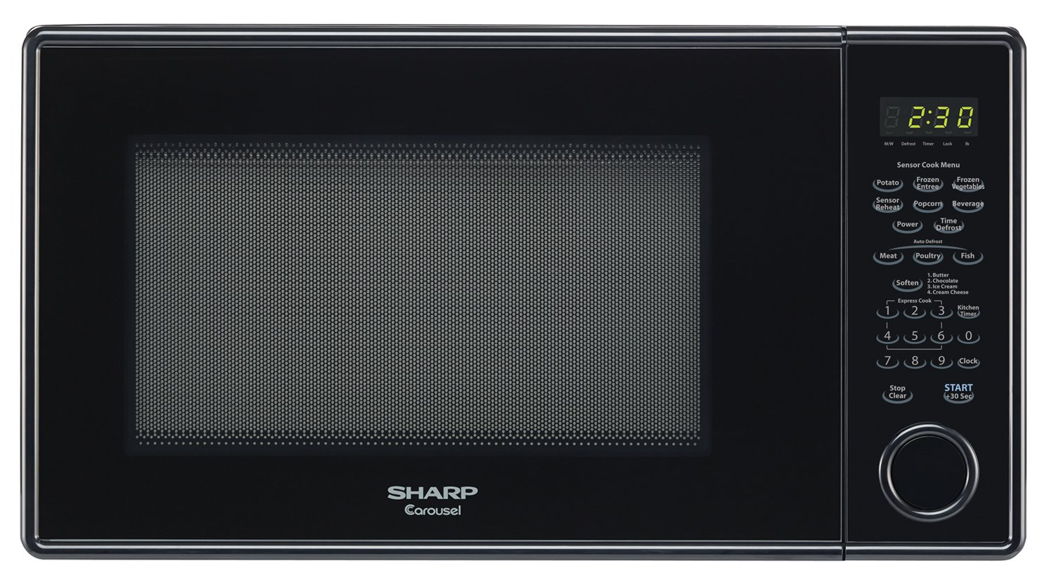 Sharp Microwaves ZSMC1441CB Sharp 1,000W Countertop Microwave Oven, 1.4 Cubic Foot, Black