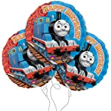 "Thomas the Train Happy Birthday 18"" Mylar Balloon 3pk"
