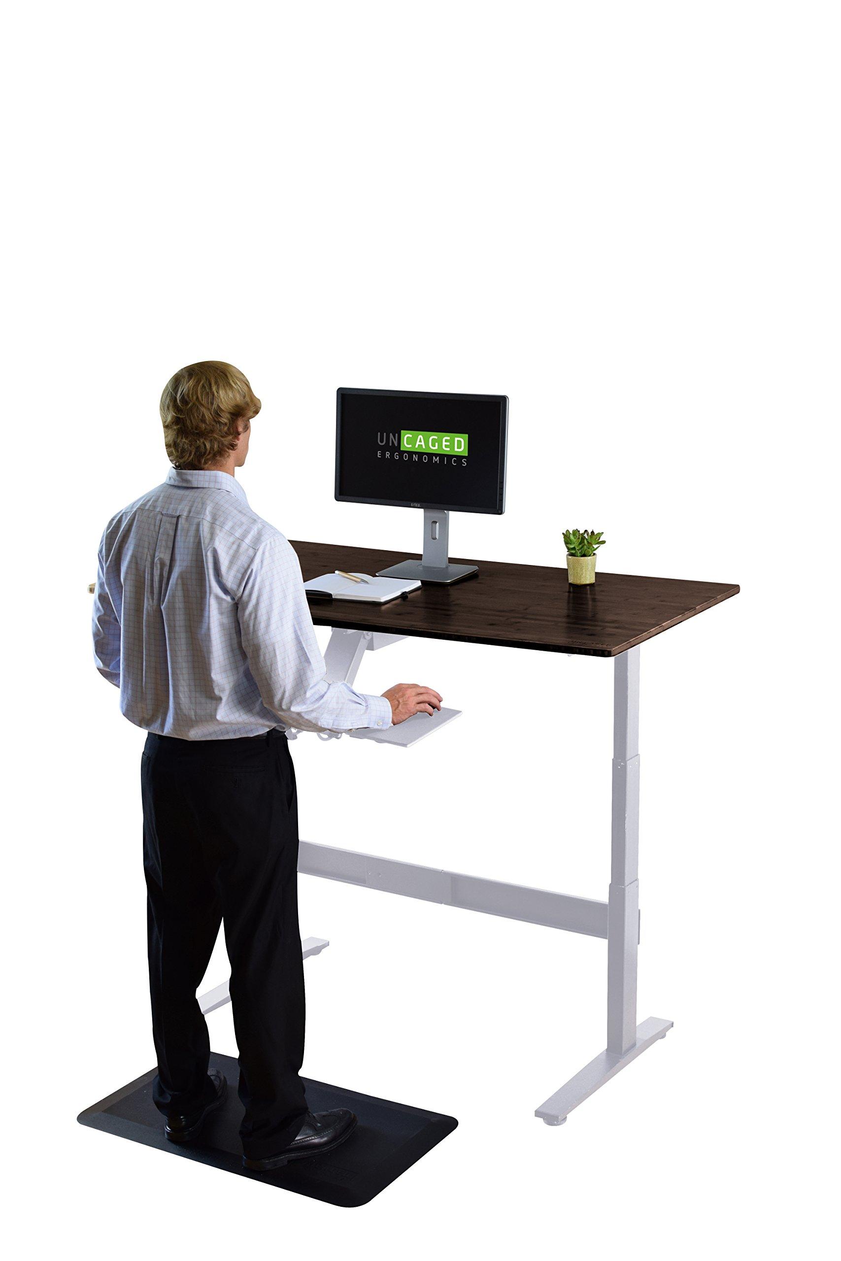 RISE UP Electric Adjustable Height Standing Desk + Beautiful Black Bamboo Desktop| Memory Keypad| 2 Motors| Affordable Ergonomic Sit Stand Office Desk by Uncaged Ergonomics (Image #5)