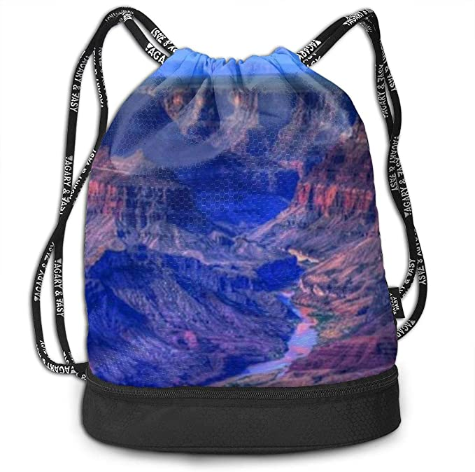 Unisex Single-sided Printing Mysterious Art Neon Magic Crystal Camp Drawstring Bag Polyester Gym Sack Bags Gyms Sack For Gym Outdoor Travel