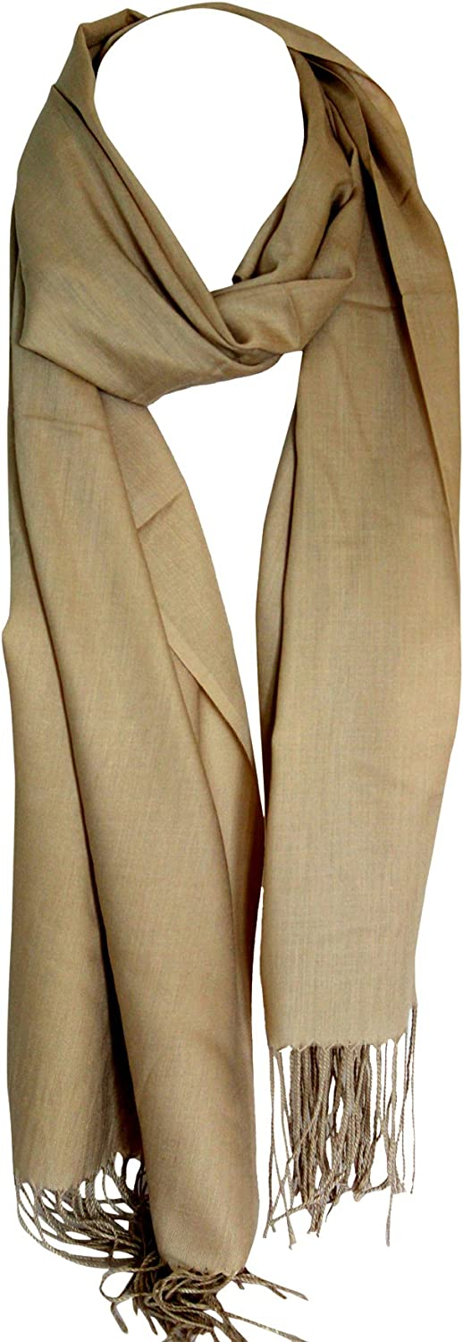 Beige Plain Super Soft Feel Egyptian Cotton Scarves Shawl Stole Wrap Hijab Scarf