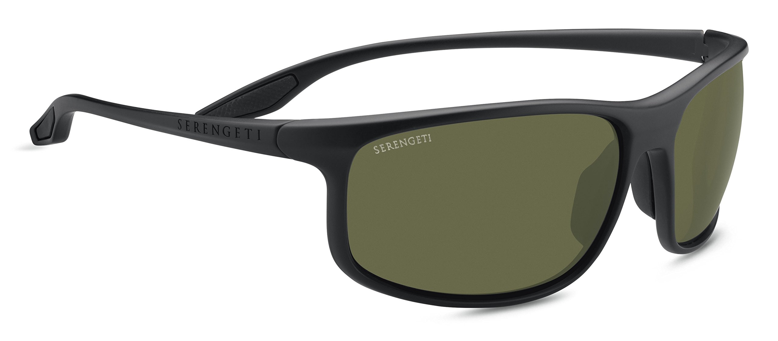 Serengeti Ponza Sunglasses Satin Black, Green